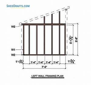 8 U00d78 Lean To Storage Shed Plans Blueprints For Creating
