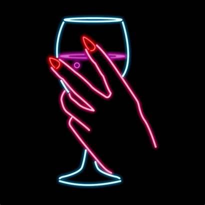 Neon Lights Giphy Alcohol Hush Kate Bubbles