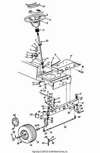Mtd 13ao665g302  1997  Parts Diagram For Front Steering