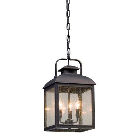 home depot outdoor hanging lights troy lighting chamberlain 3 light vintage bronze outdoor