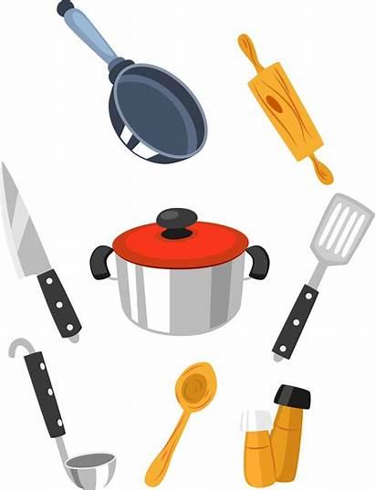 Cartoon Kitchen Clipart Clip Cooking Transparent Tool