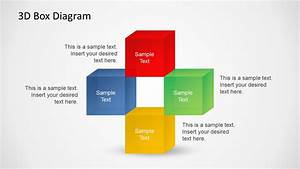 3d Box Diagrams With Text Boxes For Powerpoint
