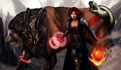 Demon Magical Horns Magic Monster Warriors Wallpapers