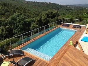 Piscine Hors Sol Bois Rectangulaire : piscine bois rectangulaire piscines bois enterr es et ~ Dailycaller-alerts.com Idées de Décoration