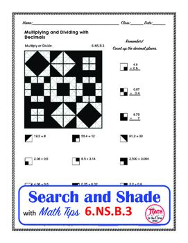 multiplying and dividing decimals coloring search and