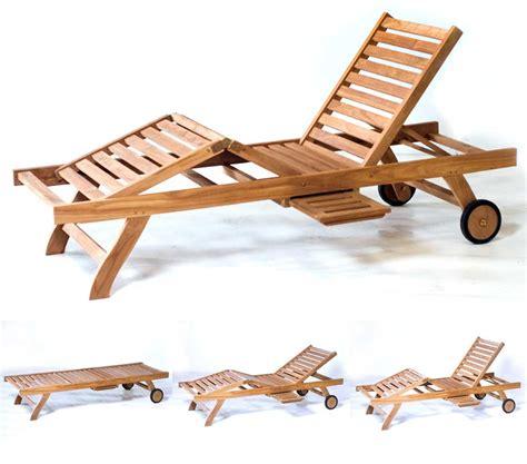 chaise longue transat transat bain de soleil en teck pas cher chaise longue