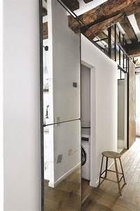 Porte Coulissante Salle De Bain : porte coulissante 12 id es pour am nager l 39 espace c t ~ Mglfilm.com Idées de Décoration