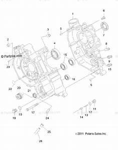 Polaris Atv 2014 Oem Parts Diagram For Engine  Crankcase