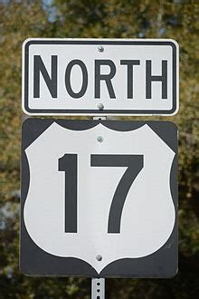 US Highway 17 Sign