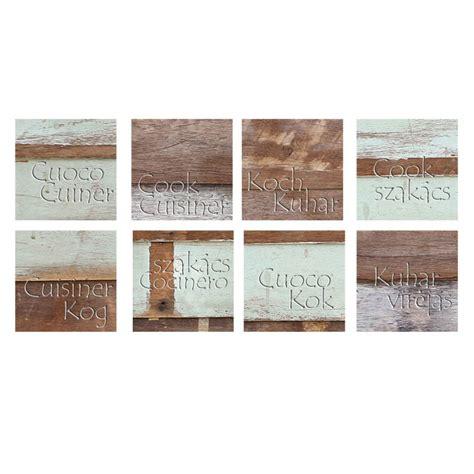 stickers carrelage cuisine stickers carrelages pour la cuisine effet bois usé avec texte cuisine