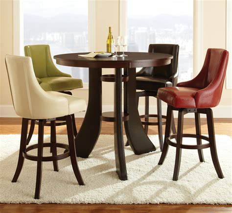 round bar height table and chairs modern dining room design with 5 piece 48 inch round pub