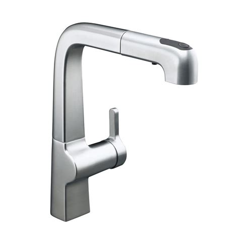 kitchen faucets with pull out sprayer kohler evoke single handle pull out sprayer kitchen faucet