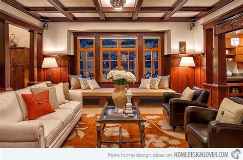 Warm Craftsman Living Room Designs-decoration For House