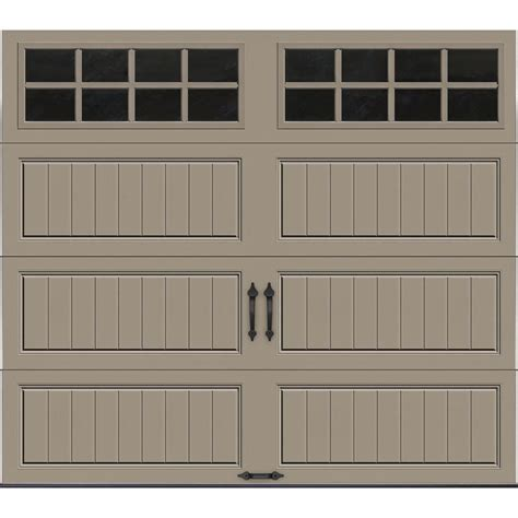 home depot garage doors clopay gallery collection 8 ft x 7 ft 18 4 r value