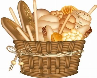 Clipart Bread Clip Basket Cookbook Bakery Kitchen