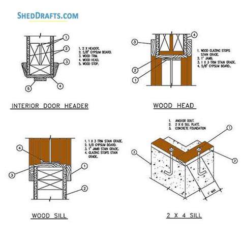 gambrel storage shed plans blueprints  barn style