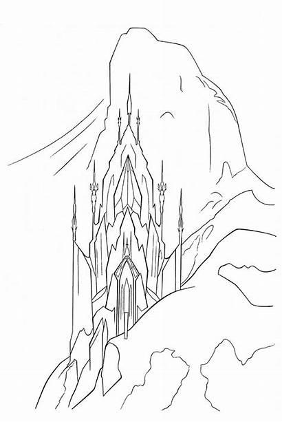 Frozen Elsa Coloring Ice Palace Castle Disney