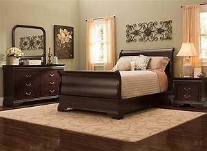 charleston 4 pc full bedroom set cherry raymour With bedroom furniture charleston sc