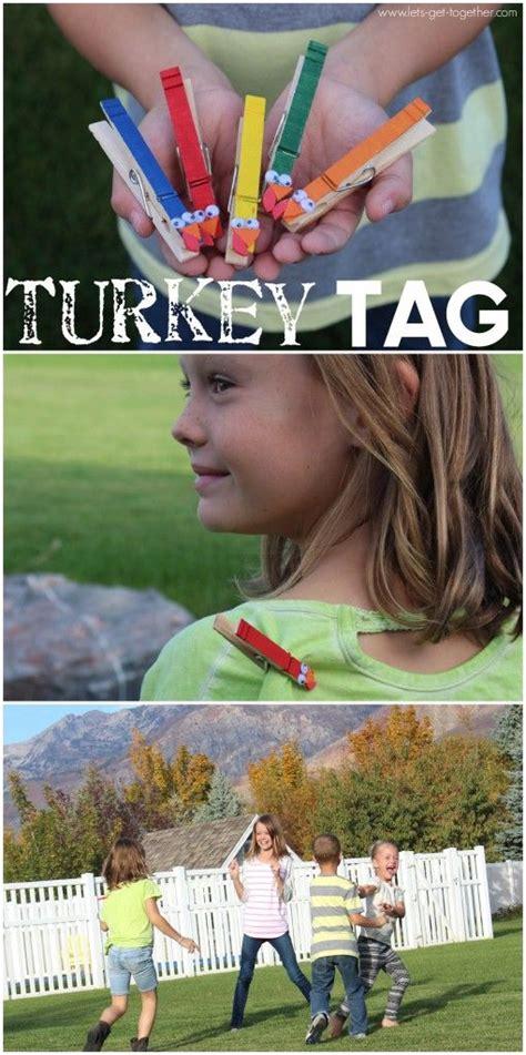 diy turkey tag thanksgiving games  kids thanksgiving