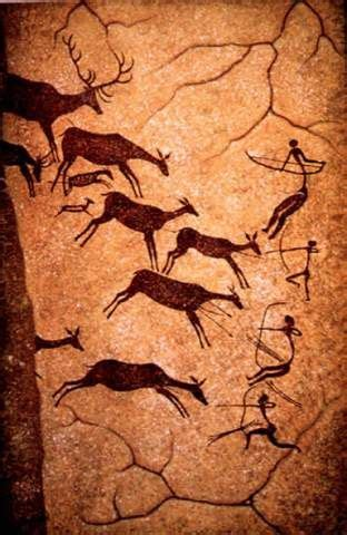 cave paintings  bc cave painting wall art