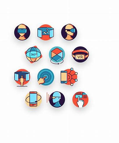 Virtual Icon Reality Augmented Icons Pack Inside