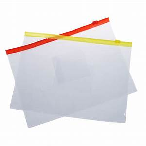 20pcs plastic slider zip lock bags files holder for a5 With poly zip document holder