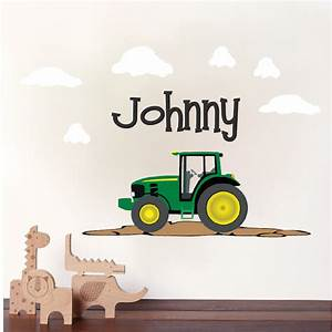 personalised boys tractor vinyl wall sticker any name With best 20 collecton tractor wall decals