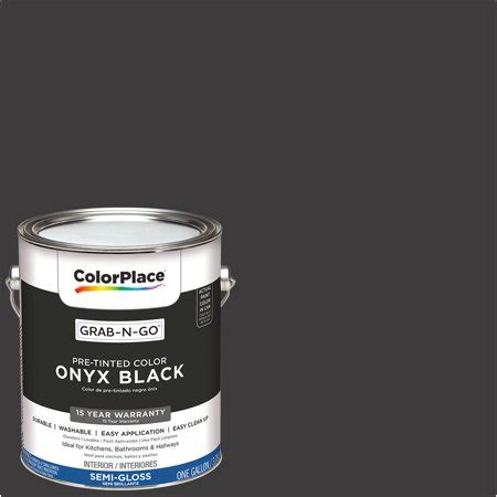 colorplace pre mixed ready to use interior paint onyx black gloss finish 1 gallon