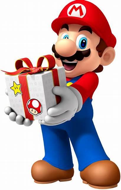 Mario Happy Nintendo Birthday Clipart Transparent Present