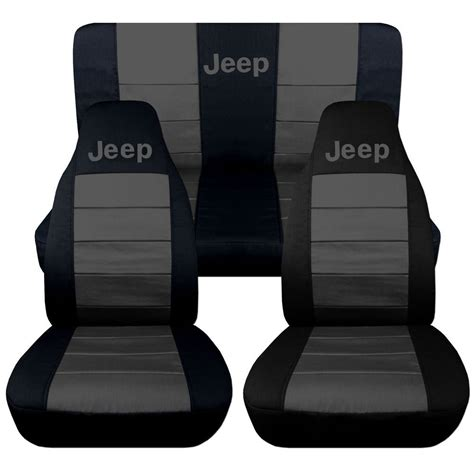 jeep wrangler tj frontback car seat covers black charcoal