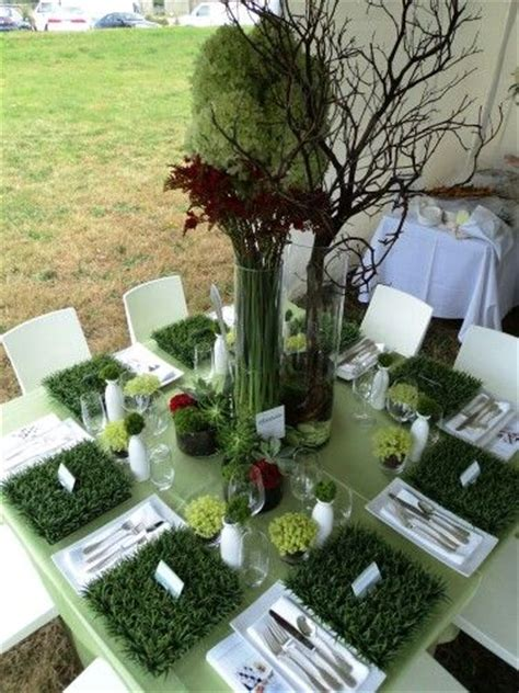 Fake Grass Table Decoration #fakegrass  Fake Grass