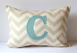 applique monogram decorative pillow cover letter by With decorative pillows with letters