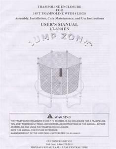 14 U0026 39  Enclosure Manual For The Jumpzone Model Lt