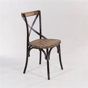 Chaise Bistrot Metal : chaise bistrot vintage en bois et m tal patin madie d coration int rieure pinterest ~ Teatrodelosmanantiales.com Idées de Décoration