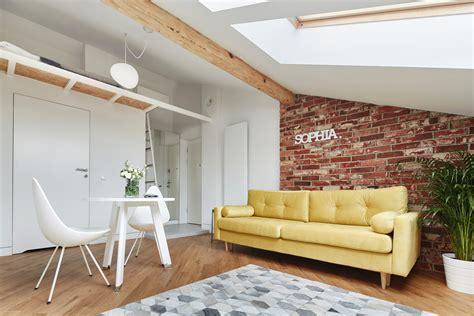 small attic apartment    sqm adorable home