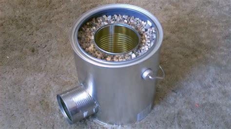 Homemade Tin Can Rocket Stove