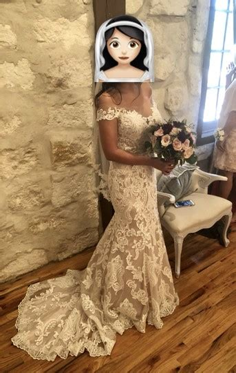 allure bridals antiqueivorynude lace  traditional