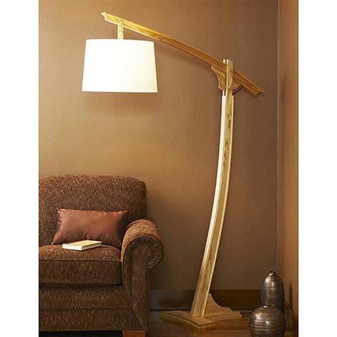 adjustable arm floor lamp woodworking plan  wood magazine