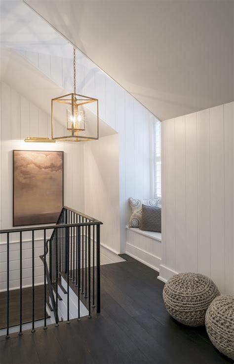 staircase window seat cottage entrancefoyer