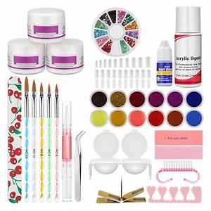 Acrylic Nail Kit Powder Glitter Nail Art Manicure
