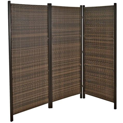 6ft outdoor wicker folding privacy screen partition