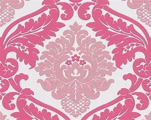 Papier Peint Rose Et Gris : papier peint baroque rose et blanc papier peint chambre ~ Dailycaller-alerts.com Idées de Décoration
