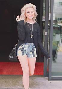 Shorts little mix jumper cute outfit perrie edwards high waisted shorts sweater - Wheretoget