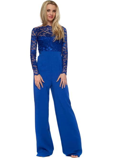 blue jumpsuits tempest billie jumpsuit in blue