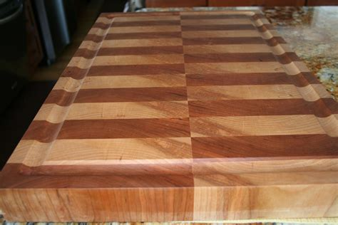 Custom Made End Grain Cutting Board With Drip Edge by