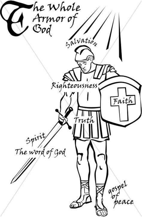 Armor of God Word Art   Spiritual Battle Word Art