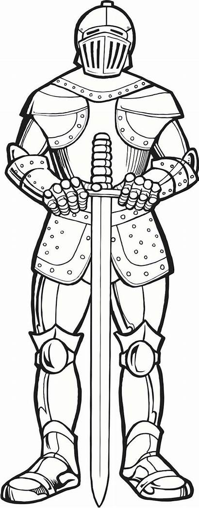Armor Coloring God Medieval Under Knight Times