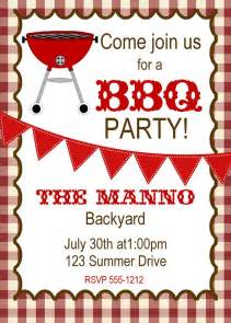 Free Printable Cookout Invitations Template
