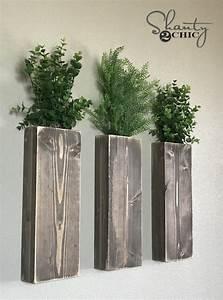 DIY Modern Farmhouse Wall Planters - Shanty 2 Chic