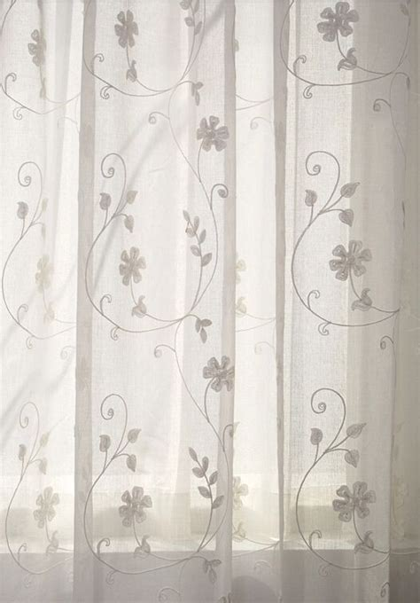 unique white sheer curtains  embroidery white sheer